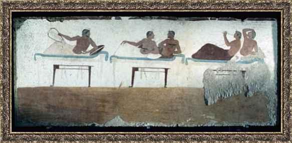 Pittura Greca Dalla Tomba Del Sub Paestum 480 A