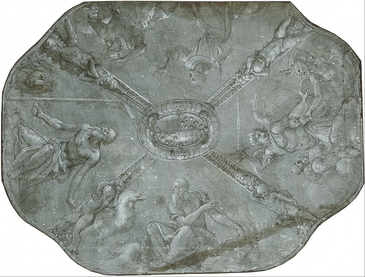 Sketch for the ceiling fresco in the Capella dEleonora di Toledo, Palazzo Vecchio, Florence da Agnolo Bronzino