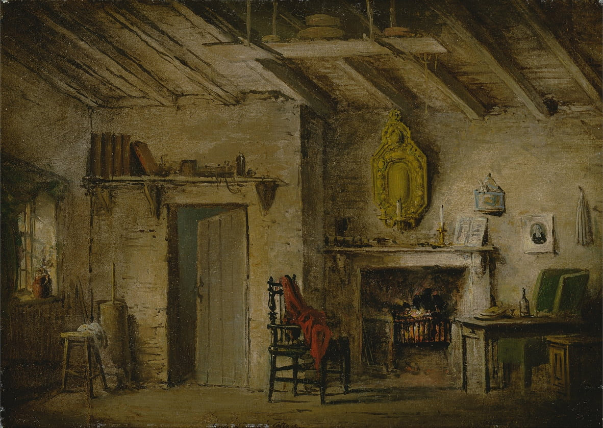 Stage Design for Heart of Midlothian; Deans Cottage da Alexander Nasmyth