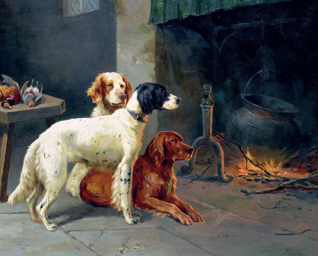 By the Fire (coppia di 77836) da Alfred Duke