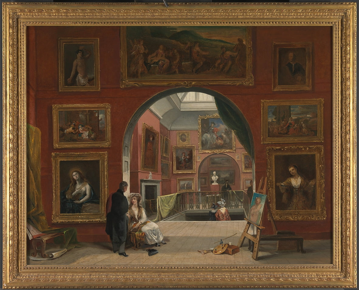 Interno della British Master Institution Old Exposition, estate 1832 da Alfred Woolmer