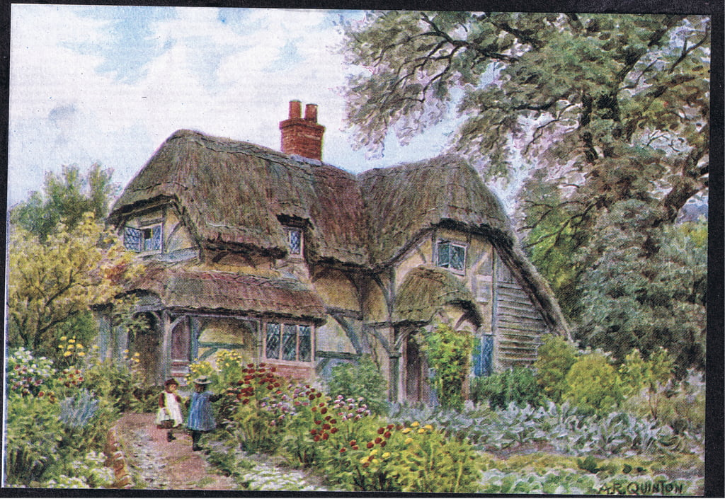 Cowdrays Cottage, Midhurst, Sussex, di The Cottages e Village Life of Rural England pubblicato da Dent e Sons Limited, 1912 da Alfred Robert Quinton
