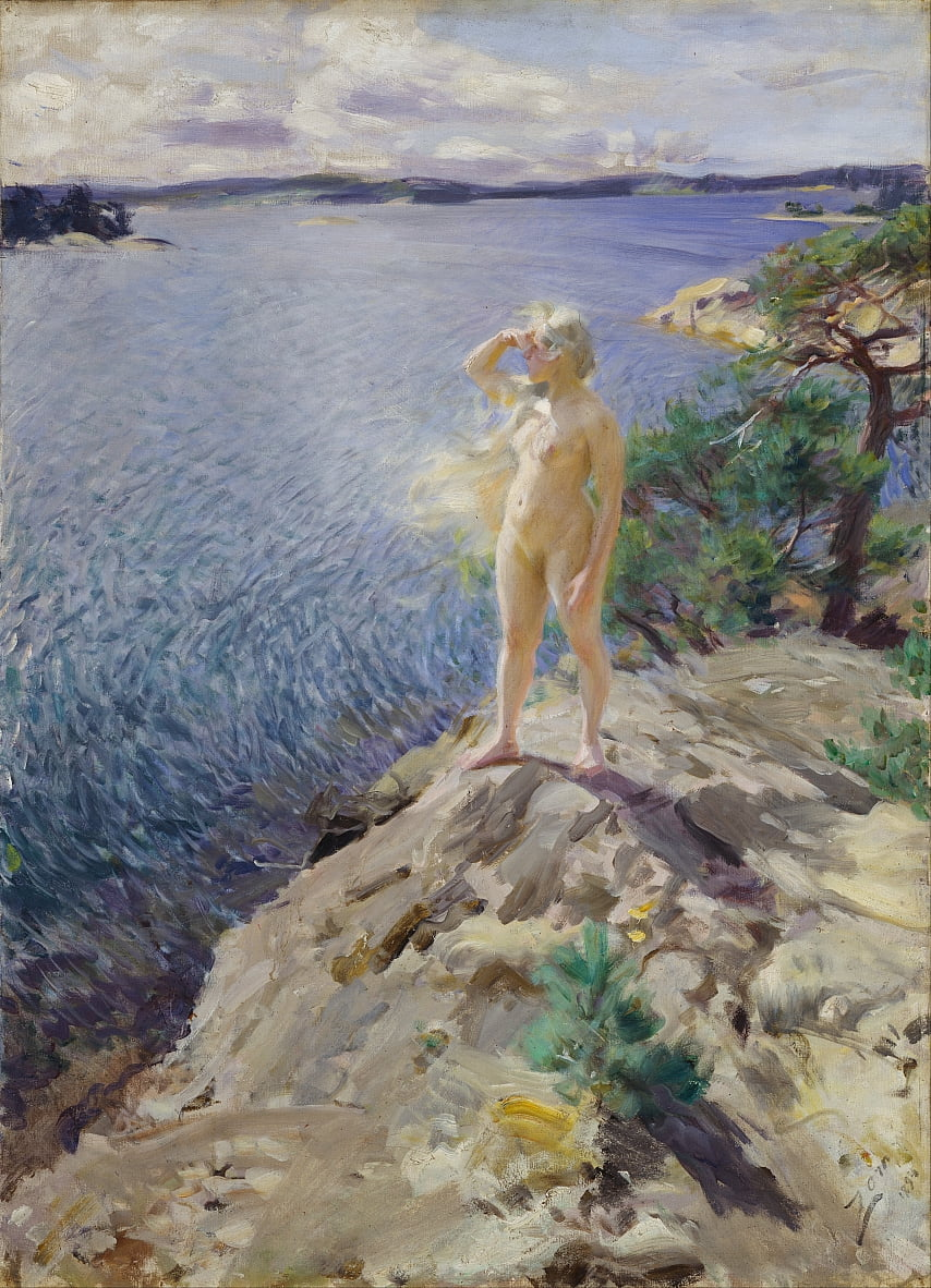 Negli Skerries da Anders Leonard Zorn