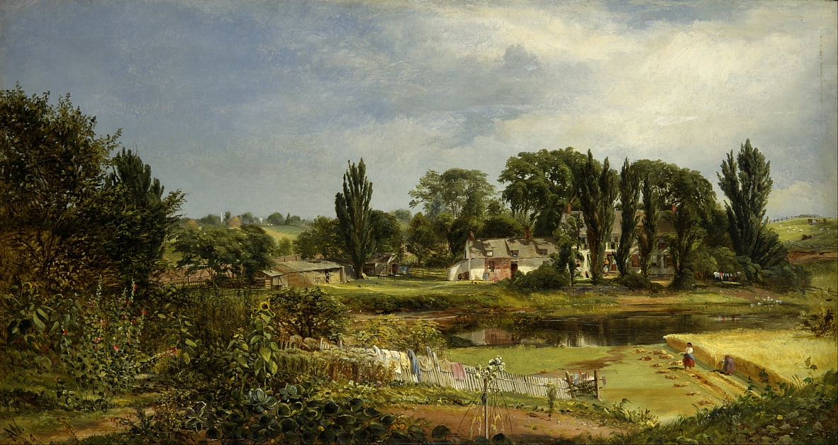 Long Island Homestead, Study from Nature da Andrew W. Warren
