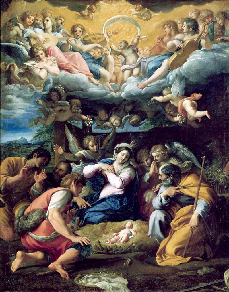 The Nativity, c.1596-98 da Annibale Carracci