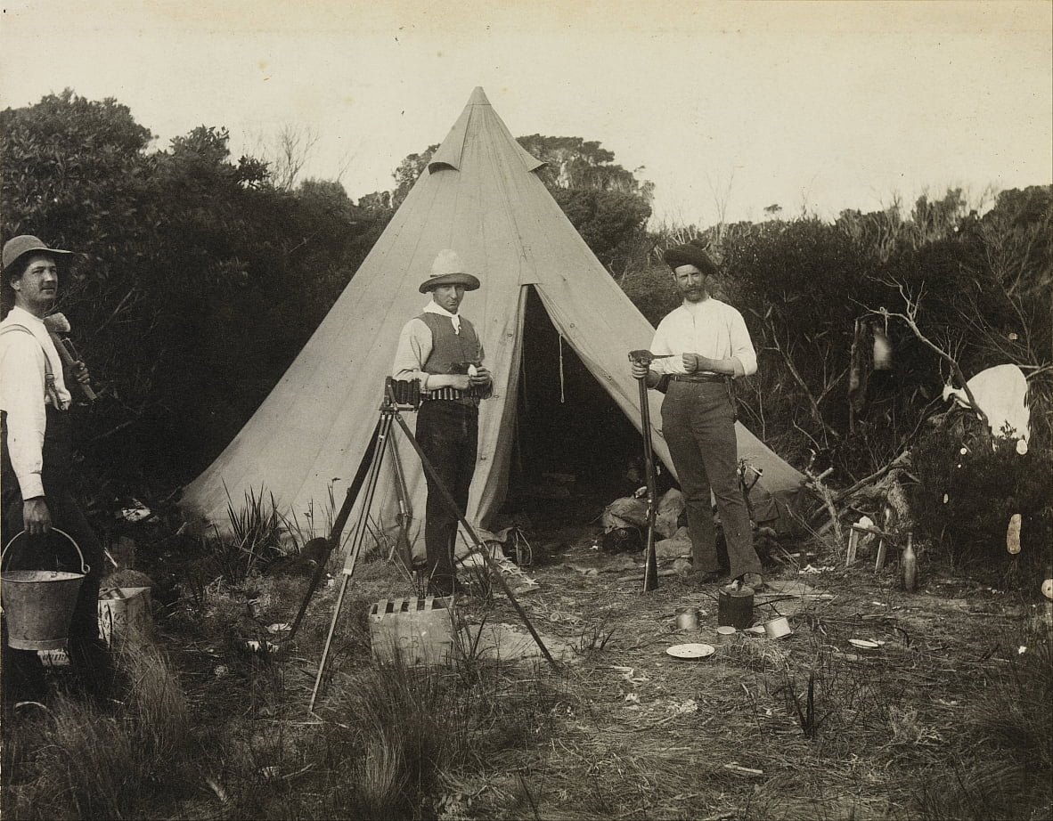 Camp View, Field Naturalist Club Expedition to King Island da Archibald James Campbell