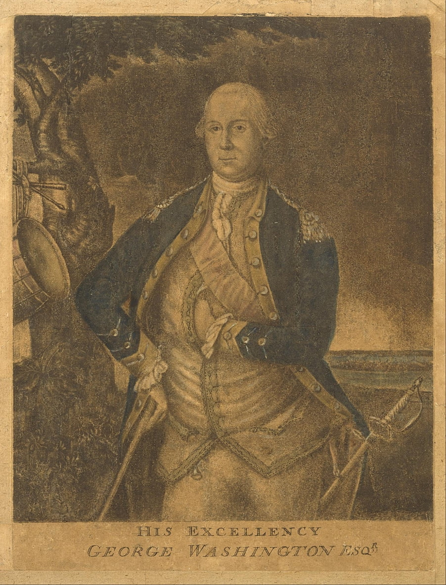 Sua Eccellenza, George Washington Esqr. da Attributed to Samuel Blyth