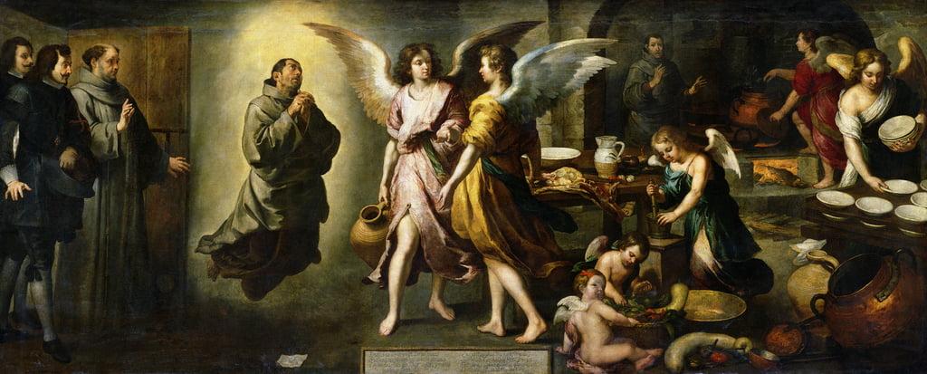 La Cucina Degli Angeli 1646 Di Bartolome Esteban Murillo