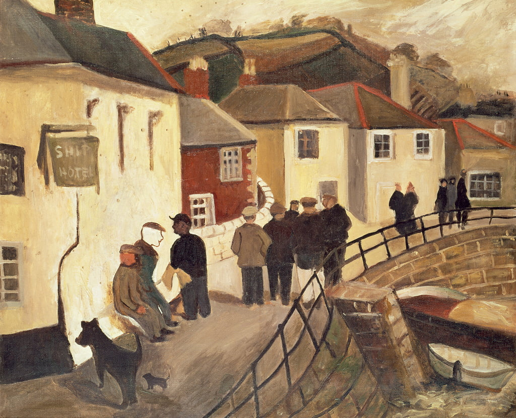 The Ship Hotel, Mousehole, Cornwall, 19289 da Christopher Wood