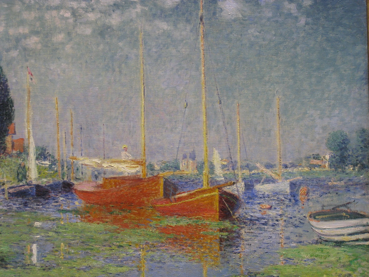 Red Boats a Argenteuil da Claude Monet