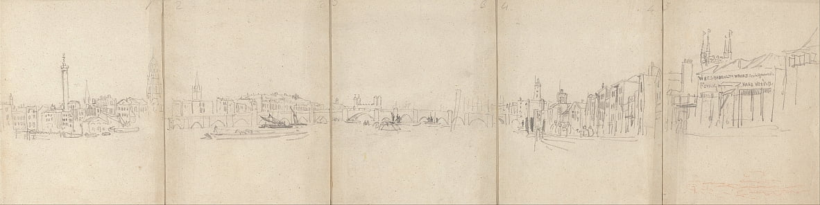 Panorama Old London Bridge da David Cox
