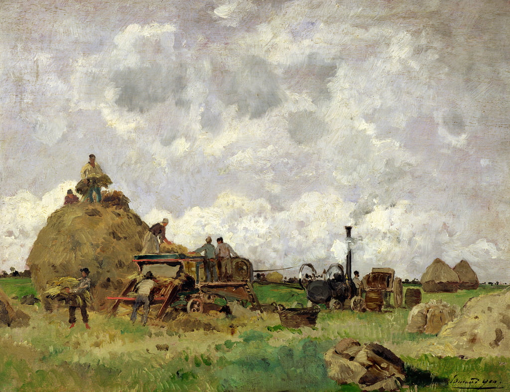 La Macchina di Threshing da Edmond Charles Yon