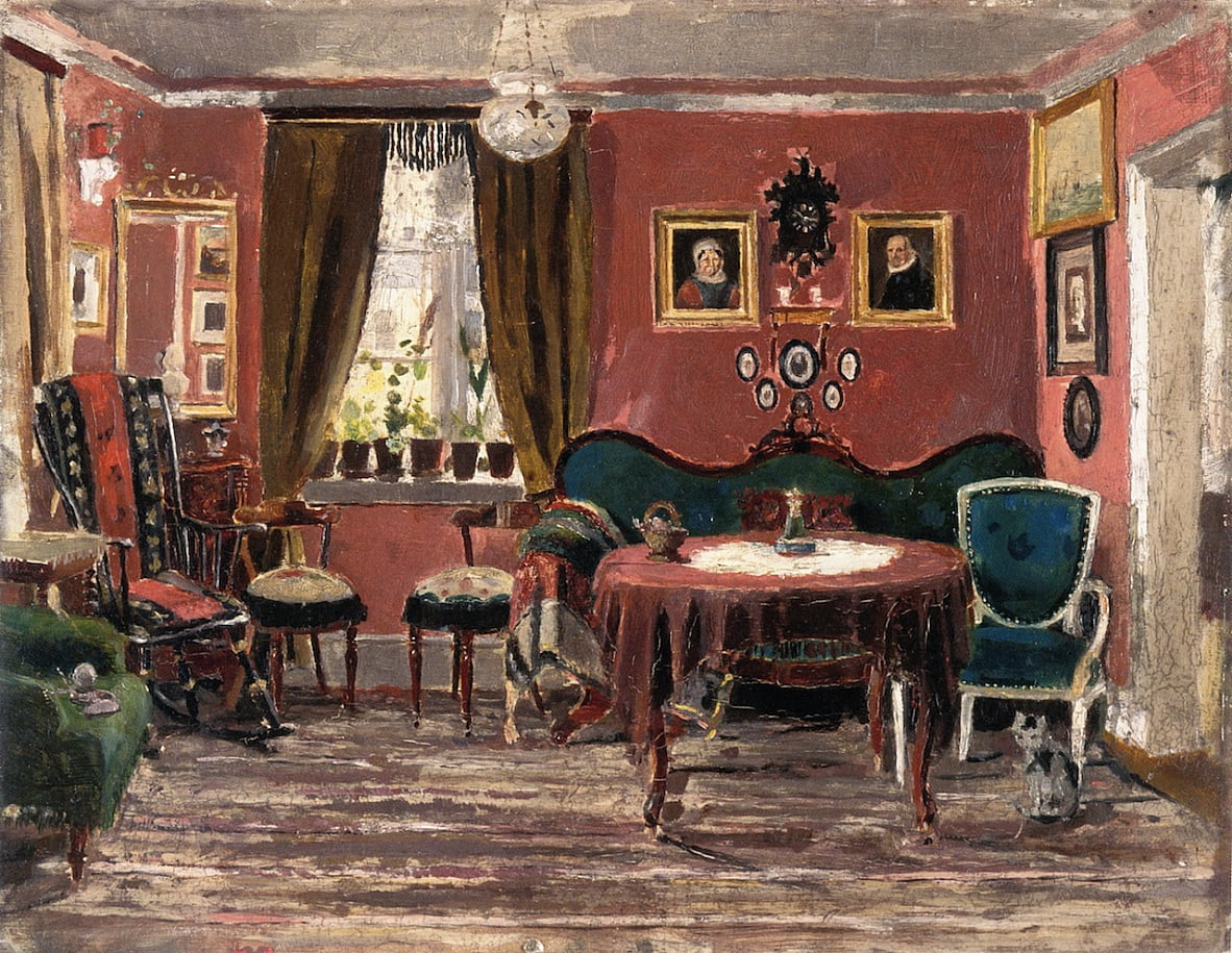 The Living Room of Misses Munch in Pilestredet 61 (1881) da Edvard Munch