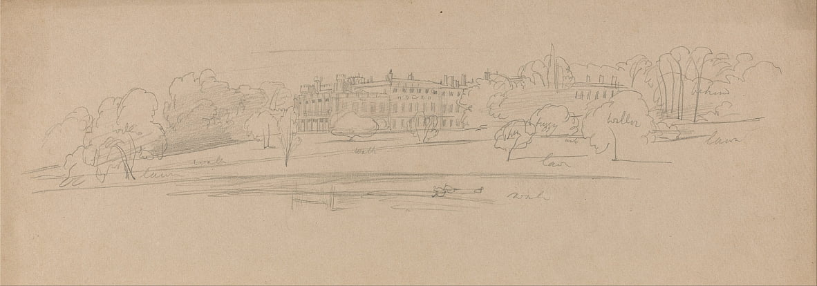 Knowsley Hall da Edward Lear