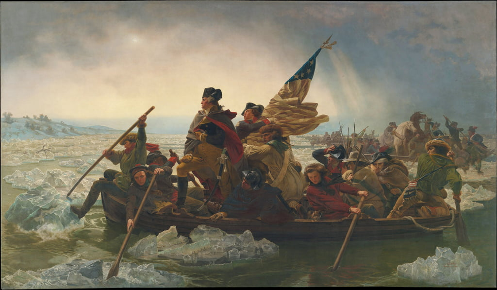 Washington Crossing the Delaware River, 25 dicembre 1776, 1851 (copia di un originale dipinto nel 1848) da Emanuel Gottlieb Leutze