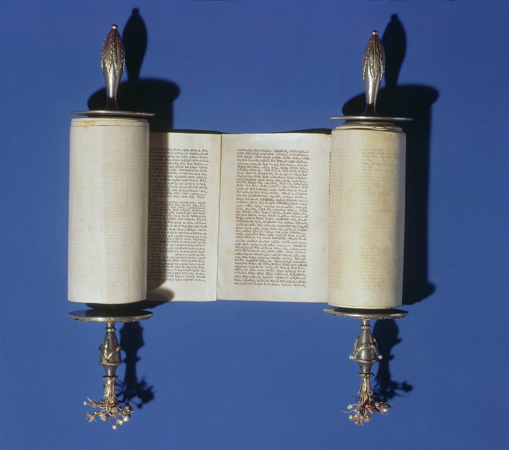 Rotolo in miniatura della Torah, 1765 (pergamena) da English School