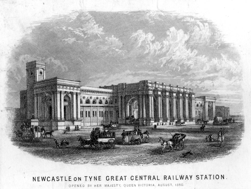 Newcastle-upon-Tyne Grande Stazione Centrale da English School