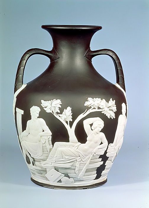 Copia in gres porcellanato Wedgwood del vaso Portland, 1790 (ceramica) da English School