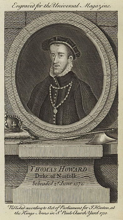 Thomas Howard, Duca di Norfolk, decapitato il 2 giugno 1572 da English School