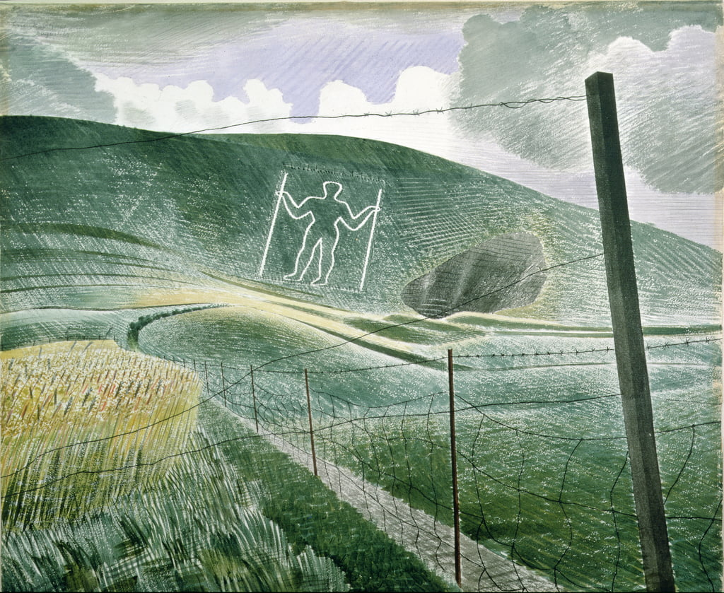 The Long Man of Wilmington o, The Wilmington Giant, 1939 da Eric Ravilious