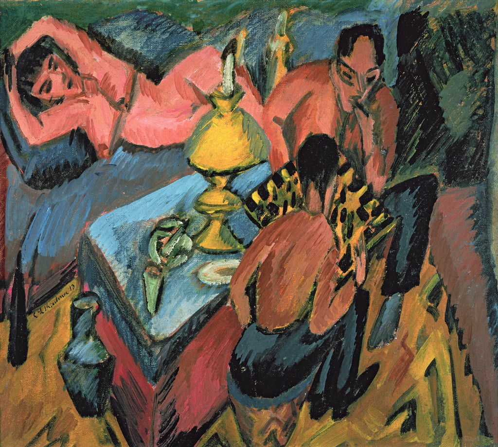 Otto Muller (1874-1930) Playing Chess, 1913 da Ernst Ludwig Kirchner