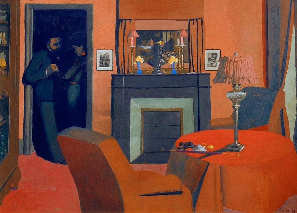 La stanza rossa da Felix Edouard Vallotton
