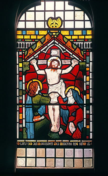 The Crucifixion, 1861 (stained glass) da Ford Madox Brown
