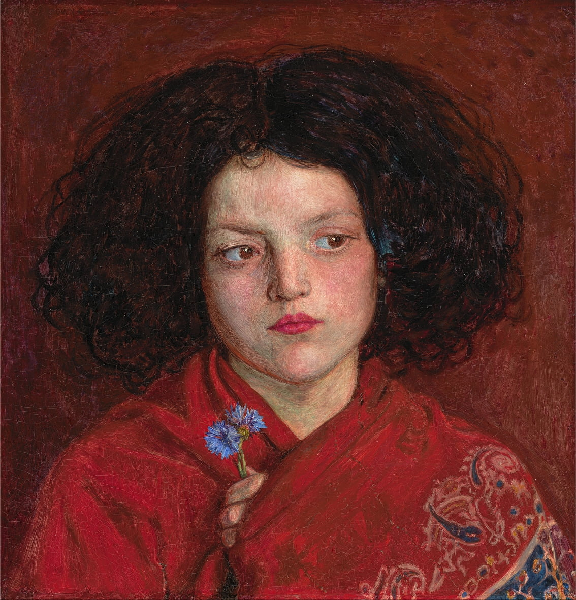 La ragazza irlandese da Ford Madox Brown