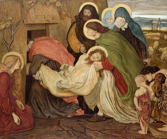 The Entombment, c.1866-78 (wc on paper) da Ford Madox Brown