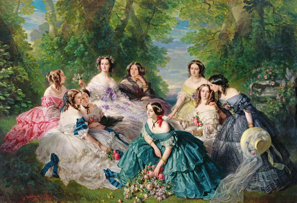Imperatrice Eugenia (1826-1920), circondata dal suo Ladies-in-Waiting, 1855 da Franz Xaver Winterhalter