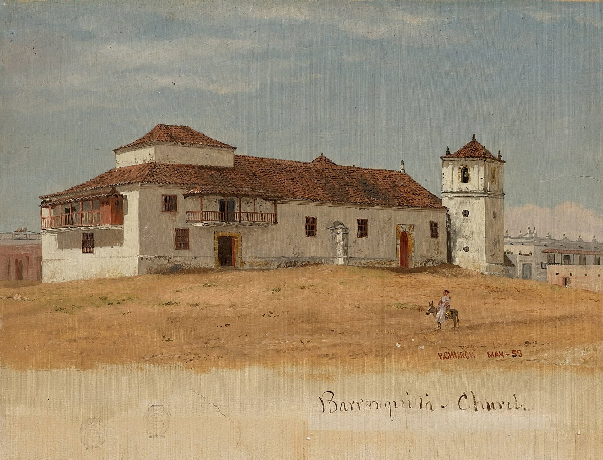 Colombia, Chiesa di Baranquilla da Frederic Edwin Church