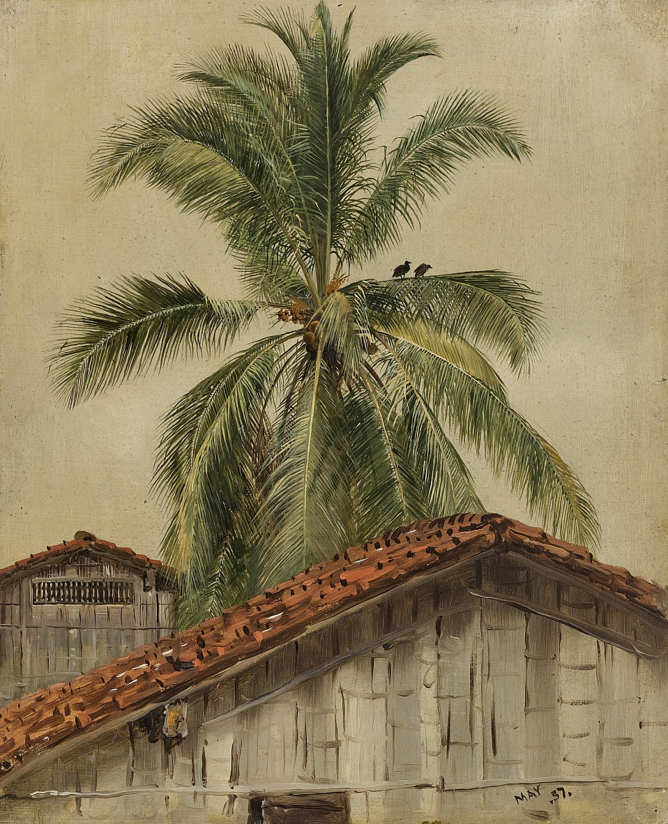Palm Trees e Housetops, Ecuador da Frederic Edwin Church