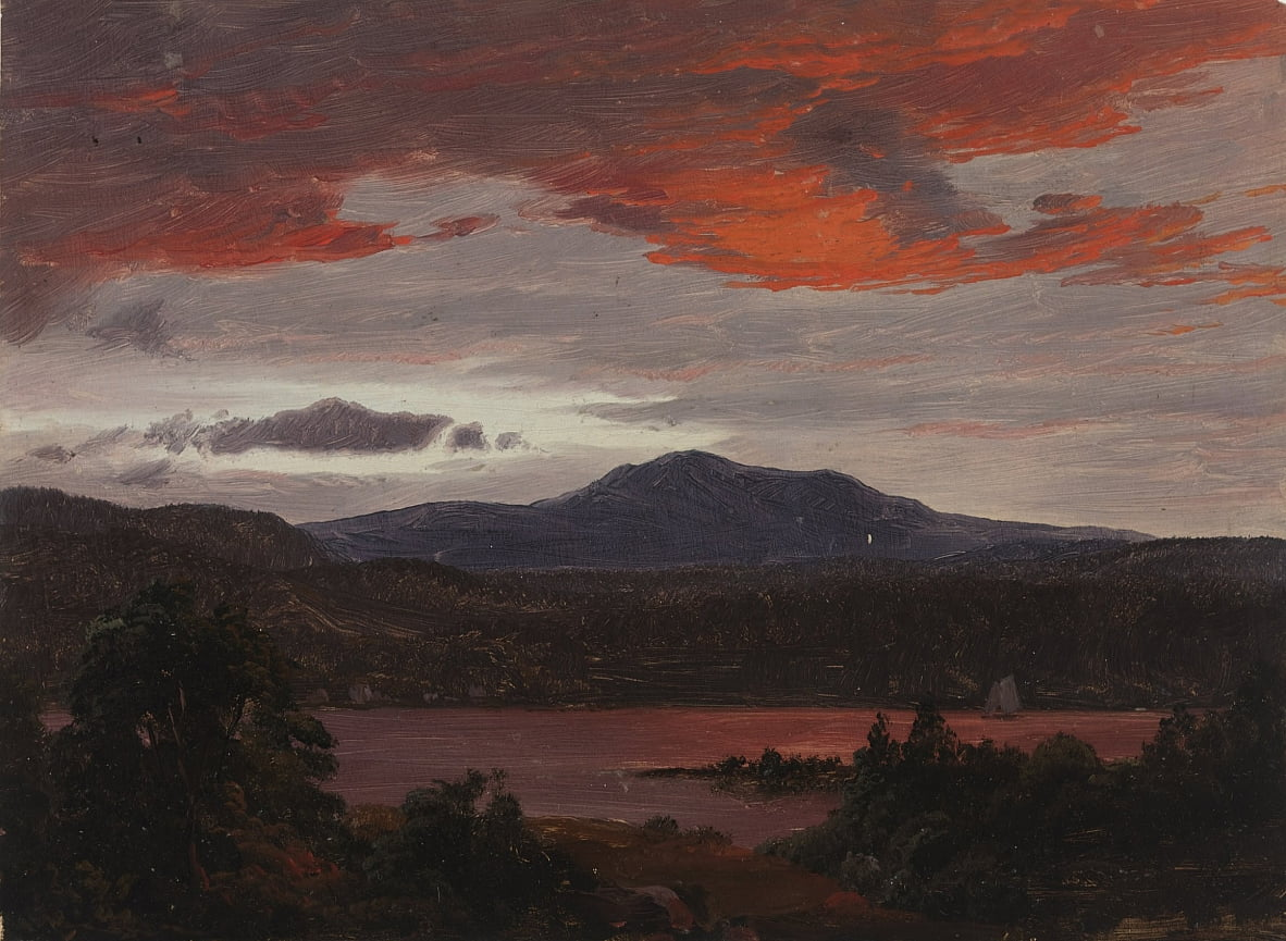 Turner Pond con Pomola Peak e Baxter Peak, Maine. da Frederic Edwin Church