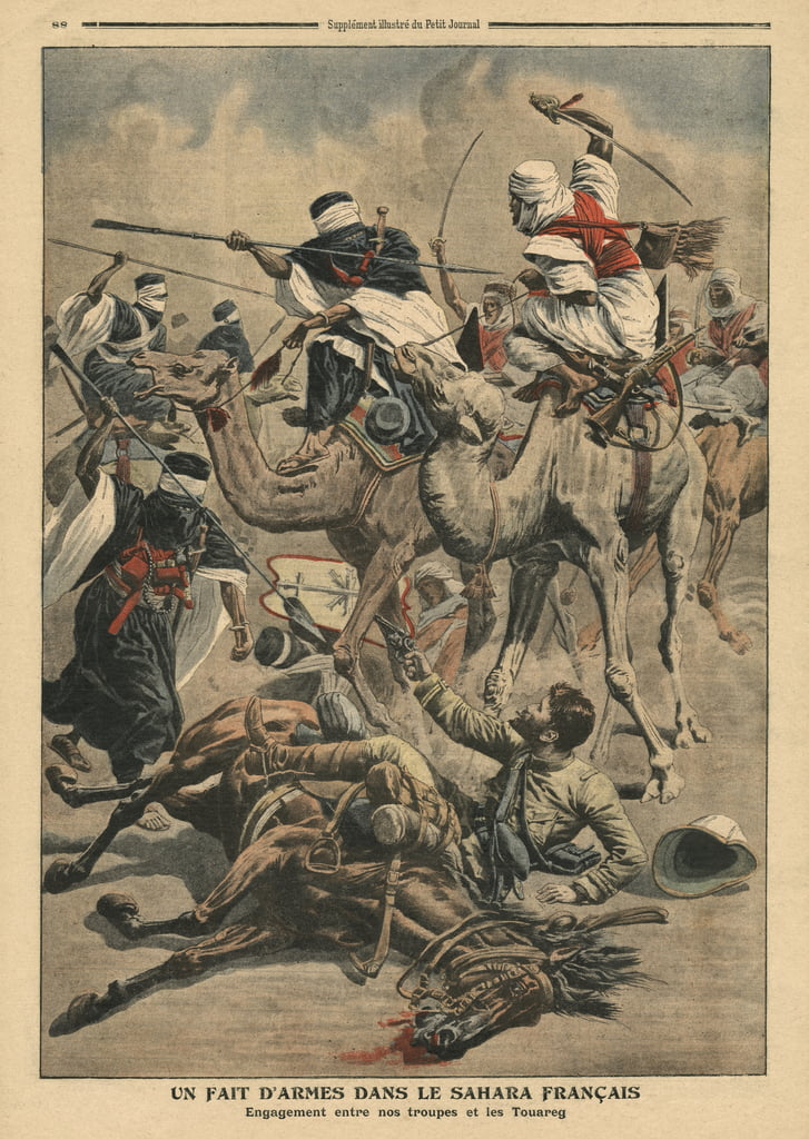 "Truppe francesi nel Sahara, illustrazione tratta da ""Le Petit Journal"", supplemento illustre, 17 marzo 1907 da French School"