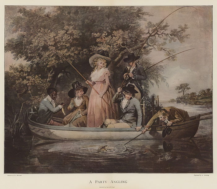 A Party Angling (chromolitho) da George Morland