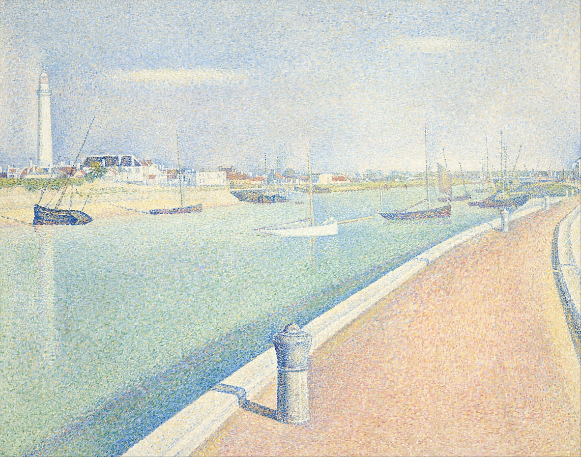 Il canale di Gravelines, Petit Fort Philippe da Georges Seurat