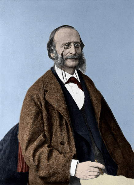 Ritratto di Jacques Offenbach da German Photographer