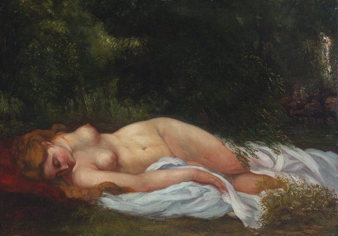 Reclining Nude da Gustave Courbet