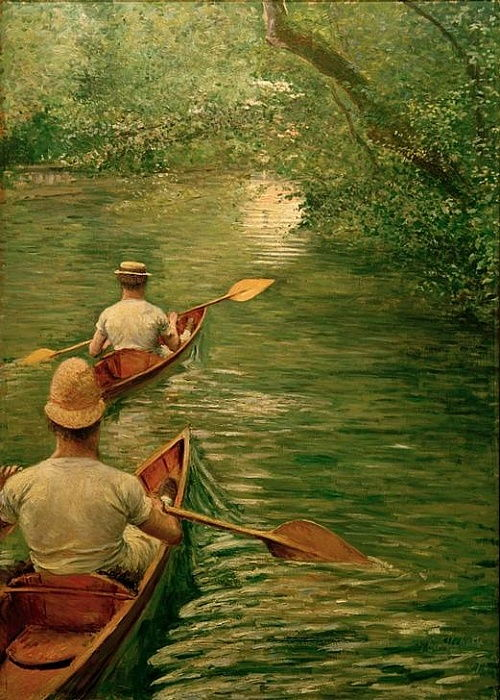Perishares on the Yerres da Gustave Caillebotte
