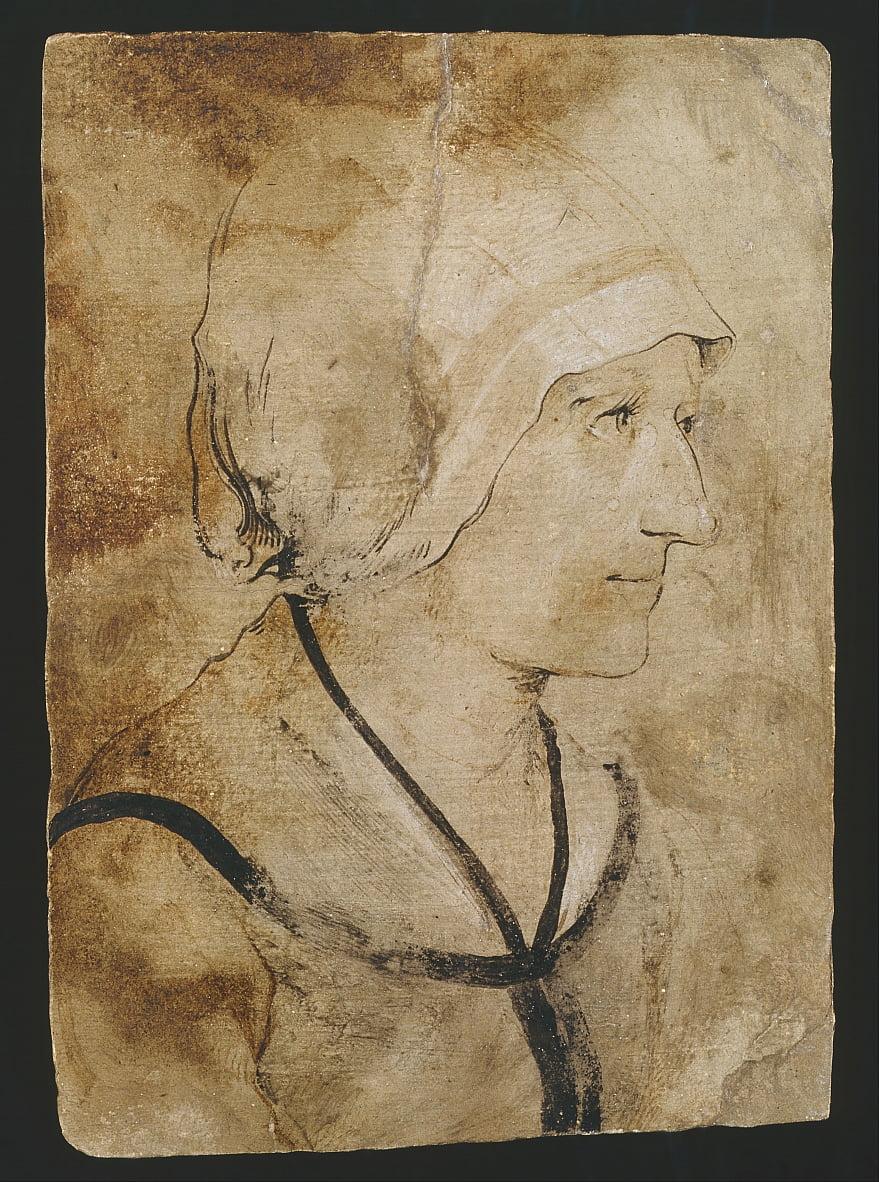 Ritratto di una moglie di una macigna sconosciuta da Hans Holbein the Elder