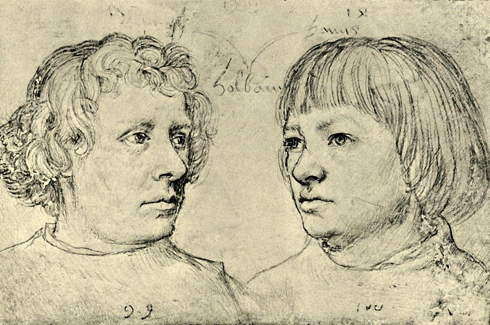 Ambrogio e Hans, i figli degli artisti, 1511, 1943. da Hans Holbein the Elder