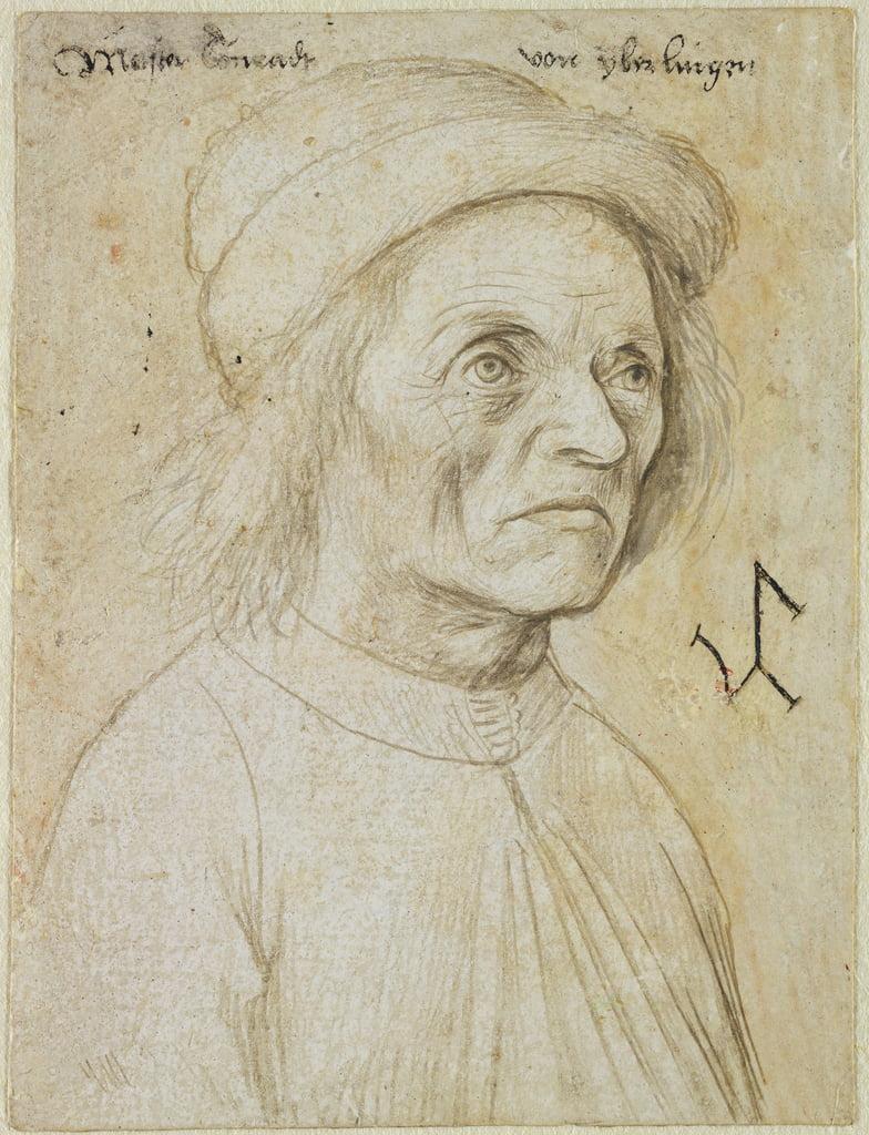 Ritratto di Konrad Wurffel (matita d&39;argento su carta) da Hans Holbein the Elder