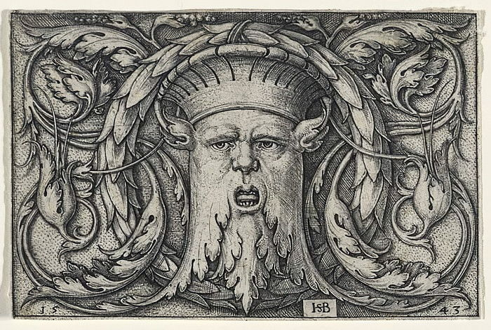 Mascaron, 1543 (incisione su carta vergata) da Hans Sebald Beham
