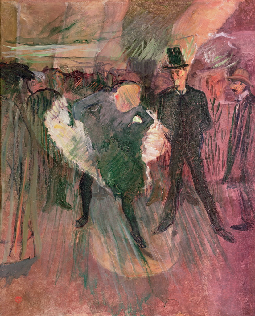 The Goulue e Valentin the Desosse da Henri de Toulouse Lautrec