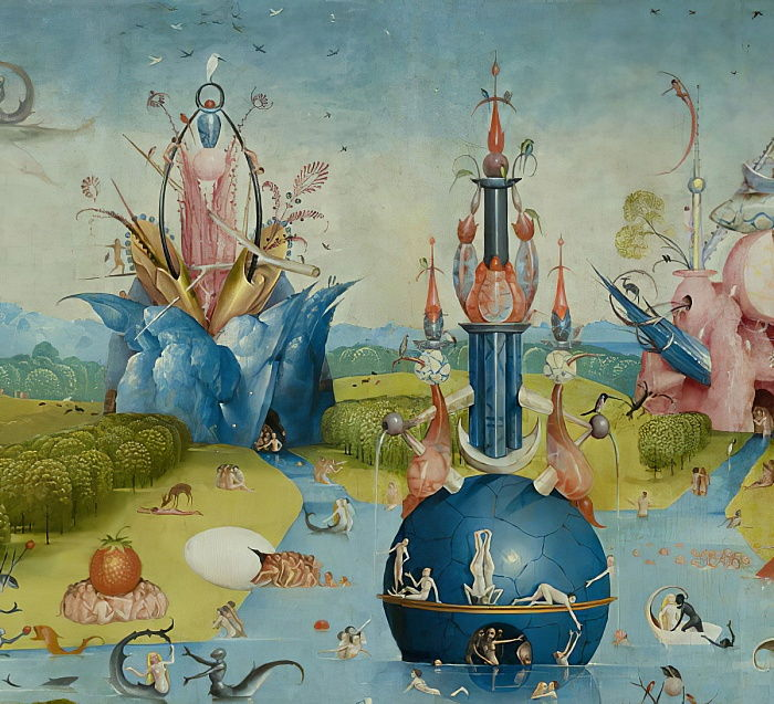 The Garden of Earthly Delights, 1490-1500 da Hieronymus Bosch