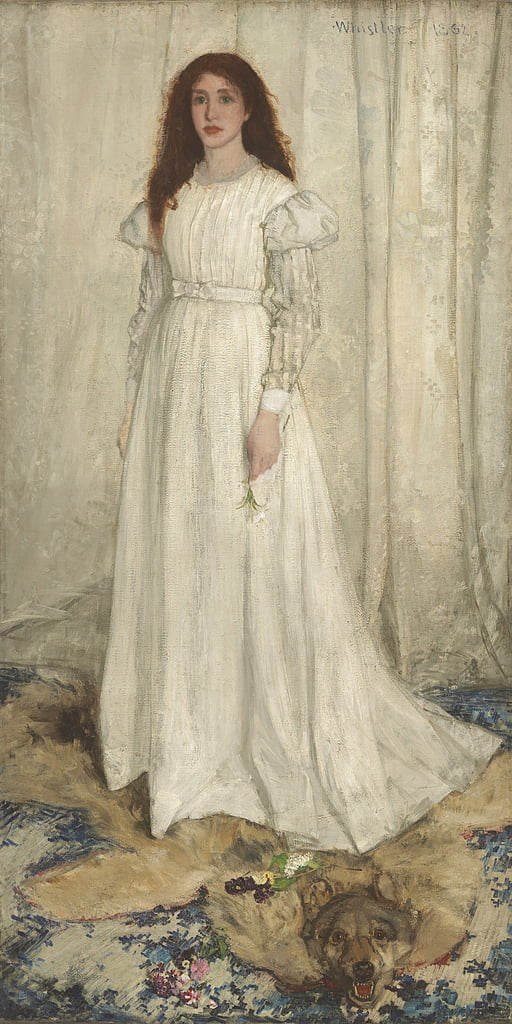 Sinfonia in bianco, n. 1: The White Girl, 1862 da James Abbott McNeill Whistler