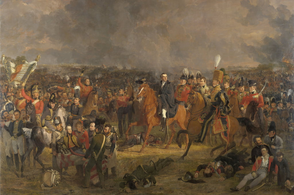La battaglia di Waterloo, 1824 da Jan Willem Pieneman