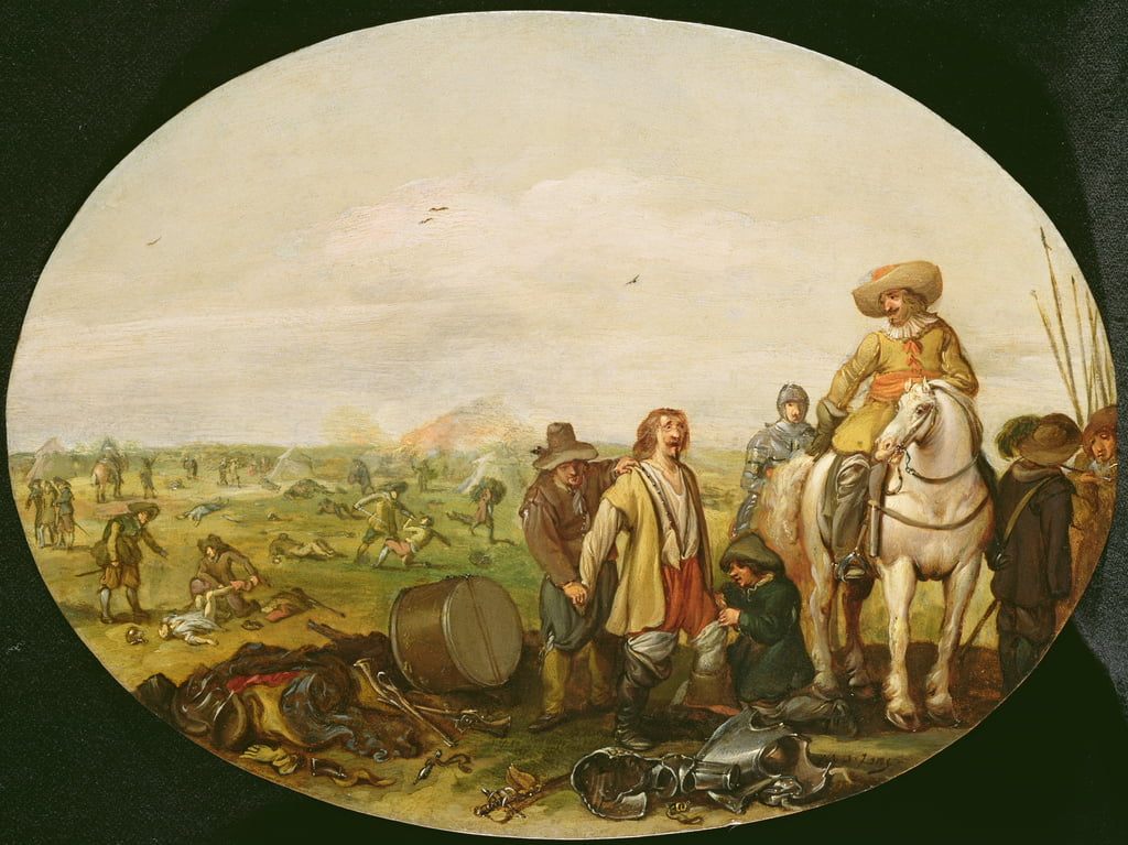 The Aftermath of Battle (olio su rame) da Jan the Younger Martsen