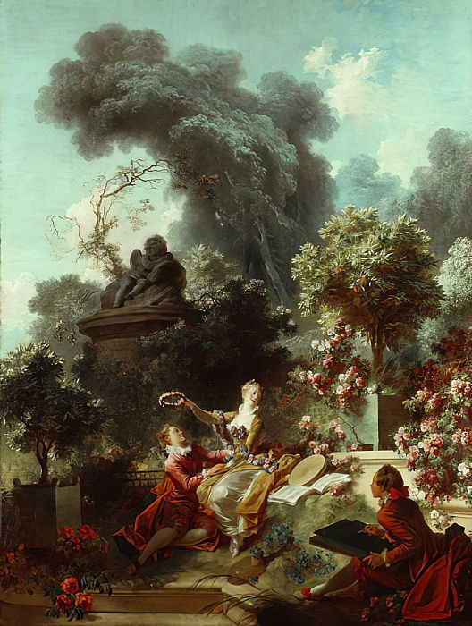 The Progress of Love: The Lover Crowned, 1771-72 da Jean Honore Fragonard