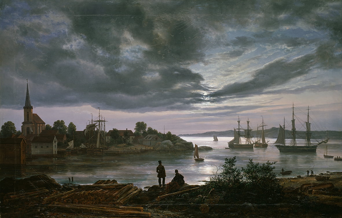 Larvik da Moonlight da Johan Christian Dahl